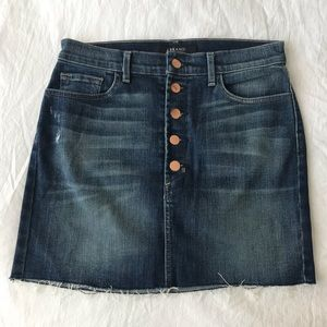 J Brand | Dark Blue Jean Mini Skirt